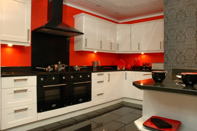 Kitchens sheffield cheap kitchens sheffield kitchen for Red fitted kitchen